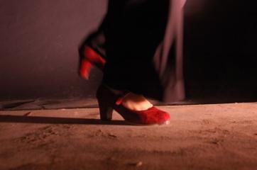 chauss rouge de